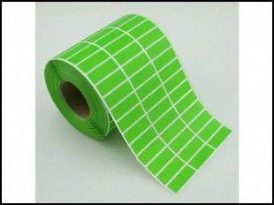 绿色不干胶标签