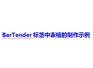 BarTender标签中有关表格的制作示例